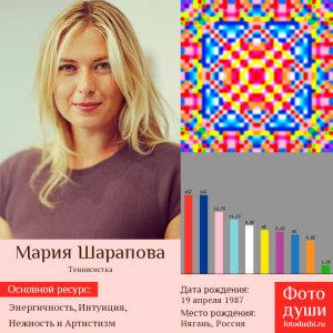 Коллаж с фото души Мария Шарапова