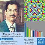 Коллаж с фото души Саддам Хусейн